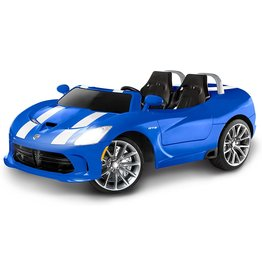 Kid Trax Kid Trax Dodge Viper SRT Convertible Toddler Ride On Toy, Ages 3 - 7 years old, 12 Volt Battery, Max Weight of 130 lbs, Two Seater, Working Lights, Blue