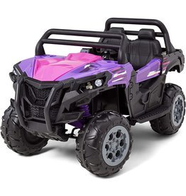 Kid Trax Kid Trax UTV Toddler/Kids Electric Ride On Toy, 12 Volt, 3-7 yrs Old, Max Weight 110 lbs, Single or Double Riders, Purple