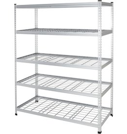 Amazon Basics Amazon Basics Heavy Duty Storage Shelving Unit - Single Post, High-Grade Aluminum
