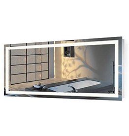 Krugg Krugg  Large 60 Inch X 30 Inch LED Bathroom Mirror  Lighted Vanity Mirror Includes Dimmer & Defogger  Wall Mount Vertical or Horizontal Installation