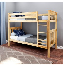 Max & Lily Max & Lily Bunk Bed, Twin, Natural