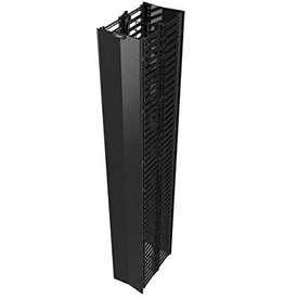 """C2G C2G QVMD712 Q-Series Vertical Manager, 7' Height X 12"""" Width, Single-Sided, Black"""