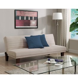 DHP DHP Dillan Convertible Futon Couch Bed with Microfiber Upholstery and Wood Legs - Tan