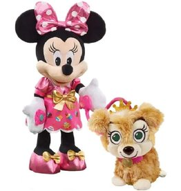 Disney Junior Disney Junior Minnie Mouse Walk and Dance Puppy, Party and Play Plush Toy for Kids Ages 3 and up