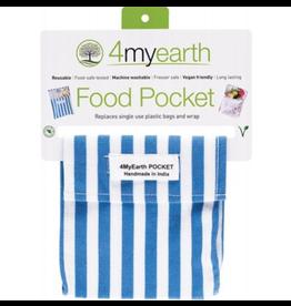 4MyEarth Food Pocket  Denim Stripe - 14x14cm