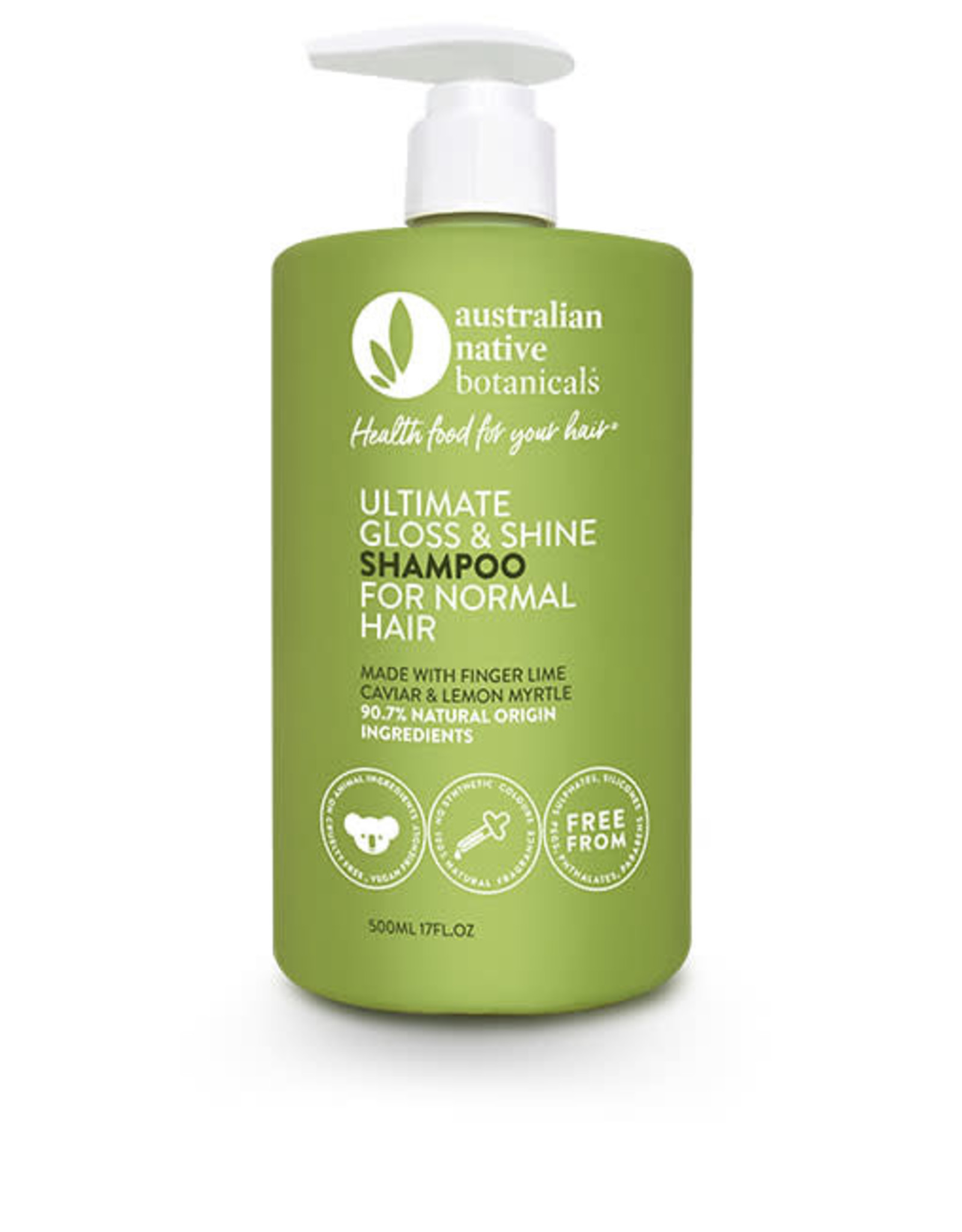 Australian Native Botanicals Shampoo - Ultimate Gloss & Shine Normal Hair - 500ml