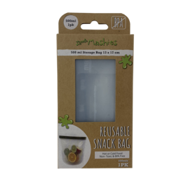 Little Mashies Reusable Food Storage Bag Silicone 500ml