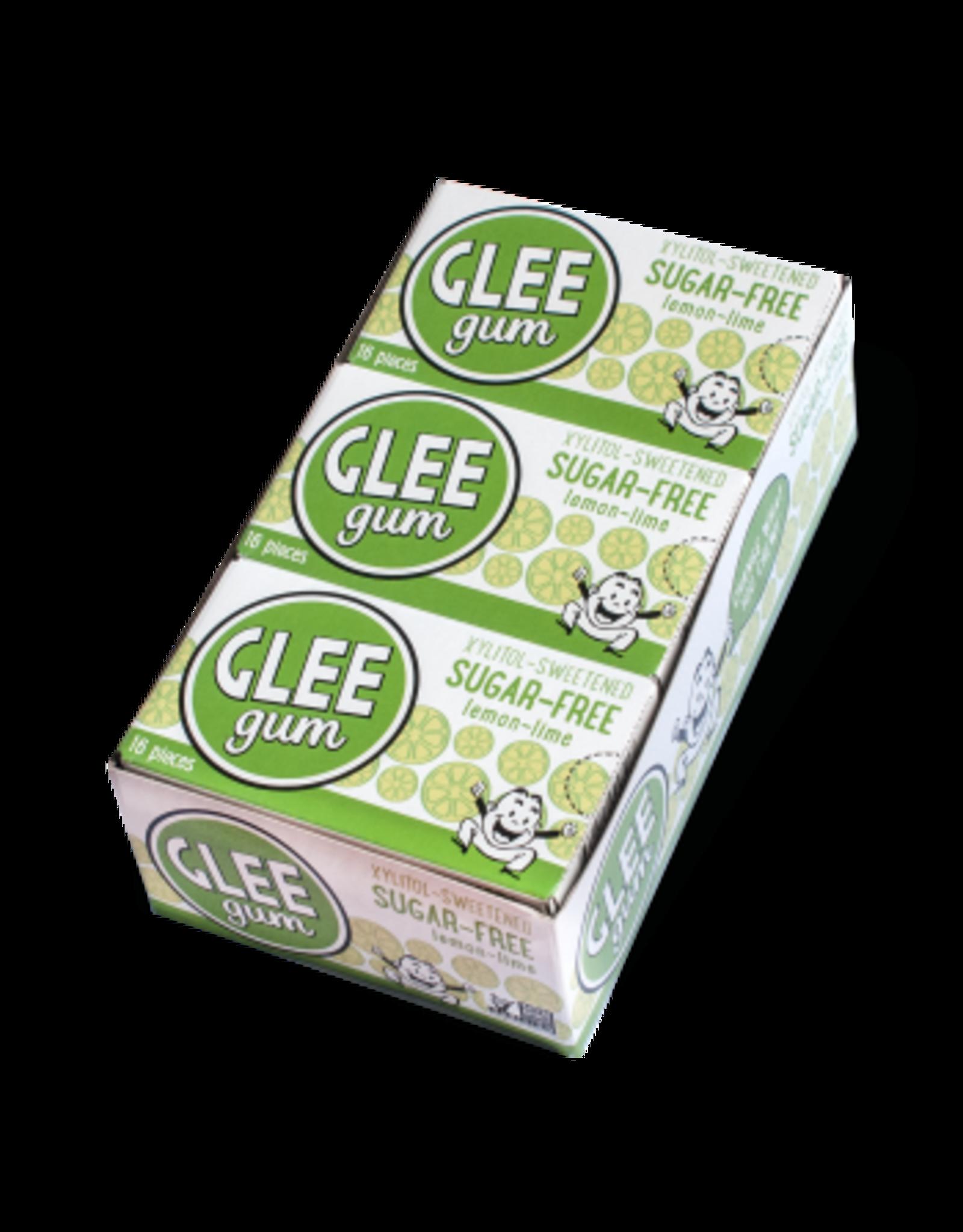 Glee Gum Lemon Lime Sugar-Free Gum - Xylitol Sweetened - 16pcs