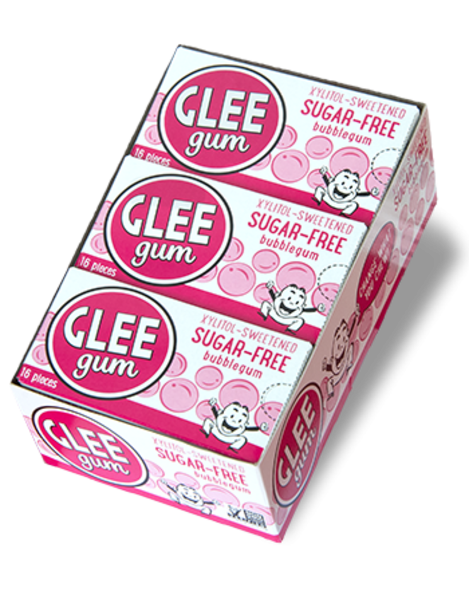 Glee Gum Bubblegum Sugar-Free Gum - Xylitol Sweetened - 16pcs