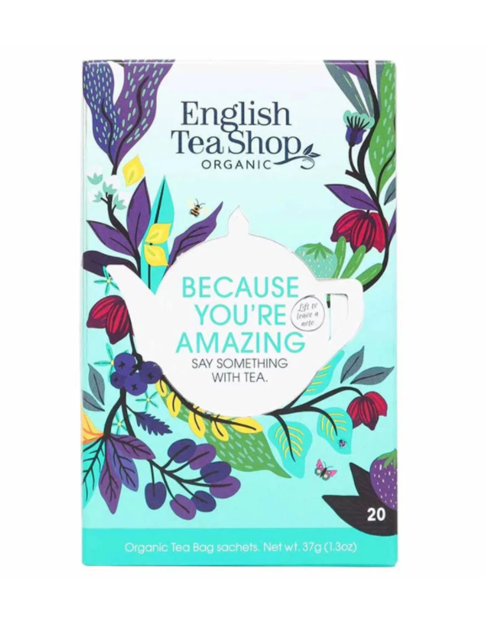 English Tea Shop Say Something With Tea - Because You're Amazing - 20 tea bags
