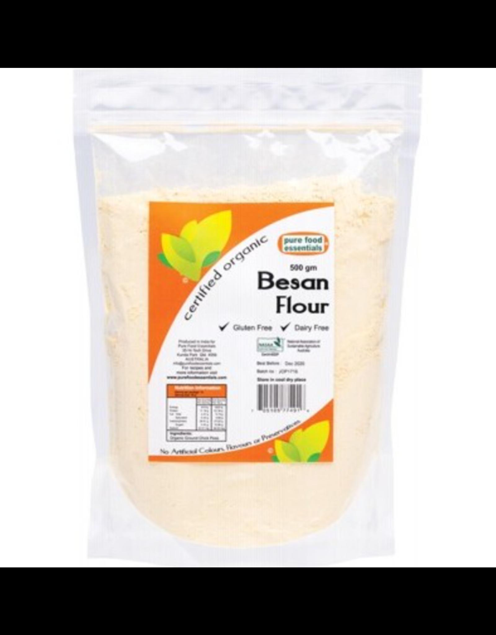 Pure Food Essentials Organic Besan Flour 500g