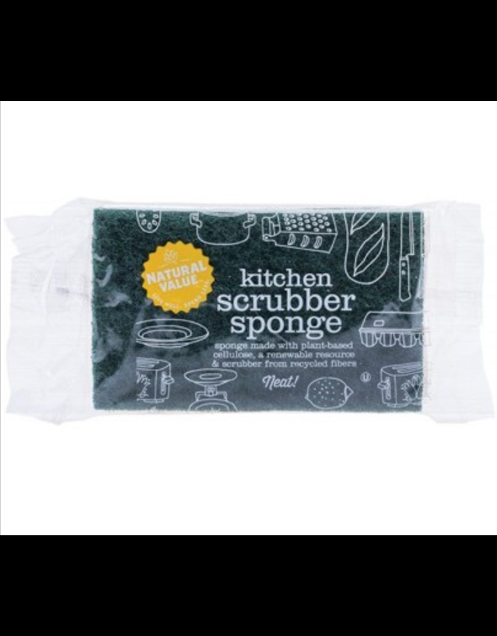 Natural Value Kitchen Scrubber Sponge 1 Pack
