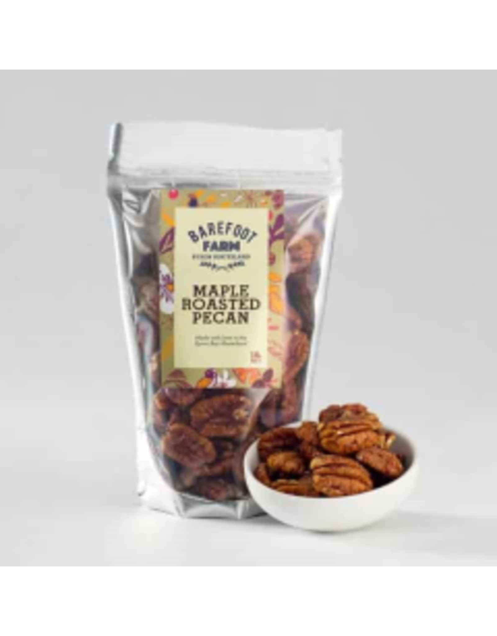 Barefoot Farm Maple Roasted Pecans 130g