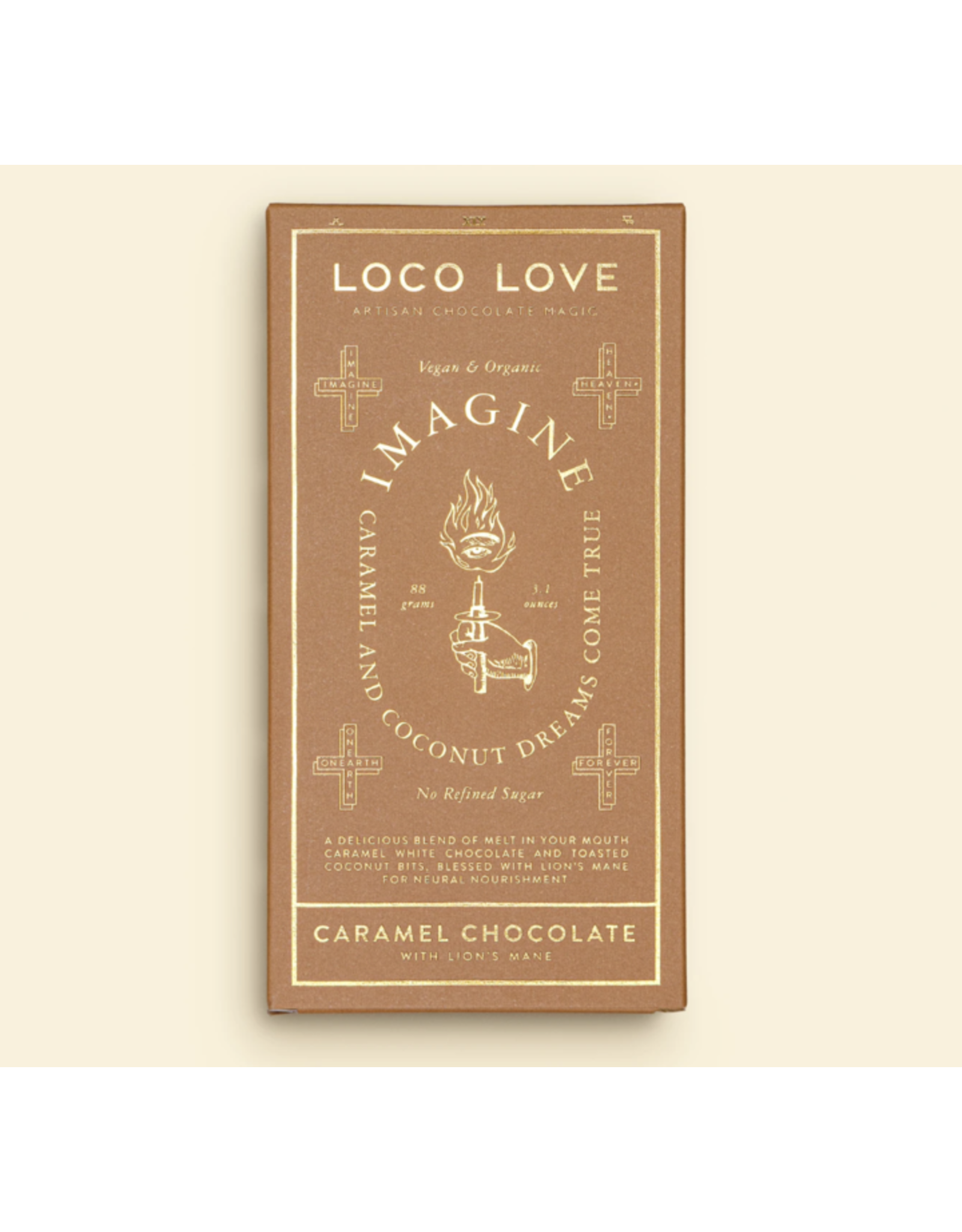 Loco Love Imagine - Caramel Chocolate with Lion's Mane - 88g