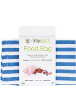 4MyEarth Food Bag Denim Stripes 25 x 20cm
