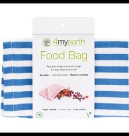 4MyEarth Food Bag Denim Stripes 25 x 20cm