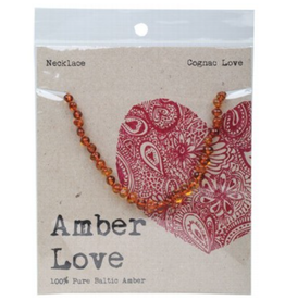 Amber Love Children's Necklace Baltic Amber - Cognac Love 33cm