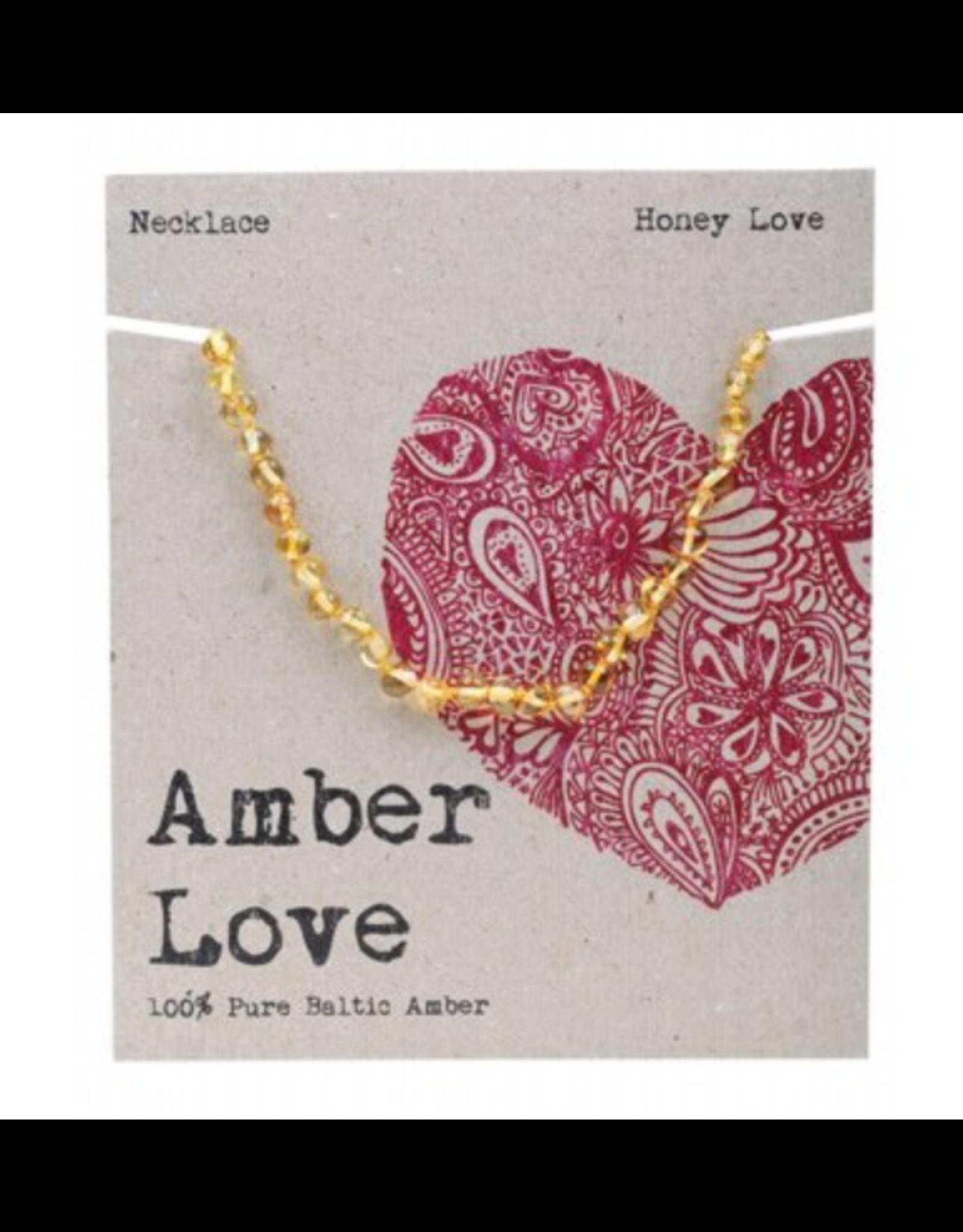 Amber Love Children's Necklace Baltic Amber - Honey Love 33cm