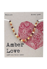 Amber Love Children's Necklace Baltic Amber - Mixed Love 33cm