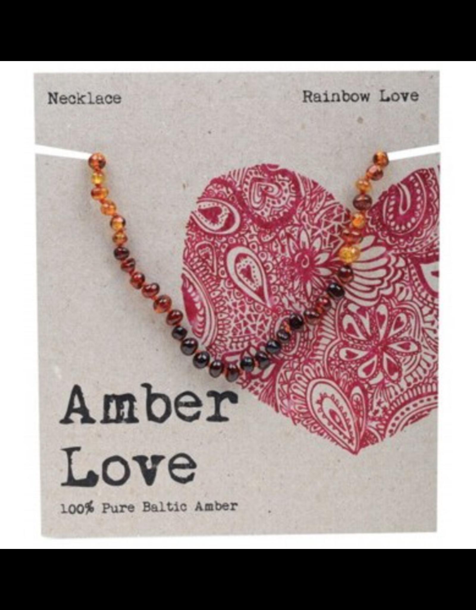 Amber Love Children's Necklace Baltic Amber - Rainbow Love 33cm