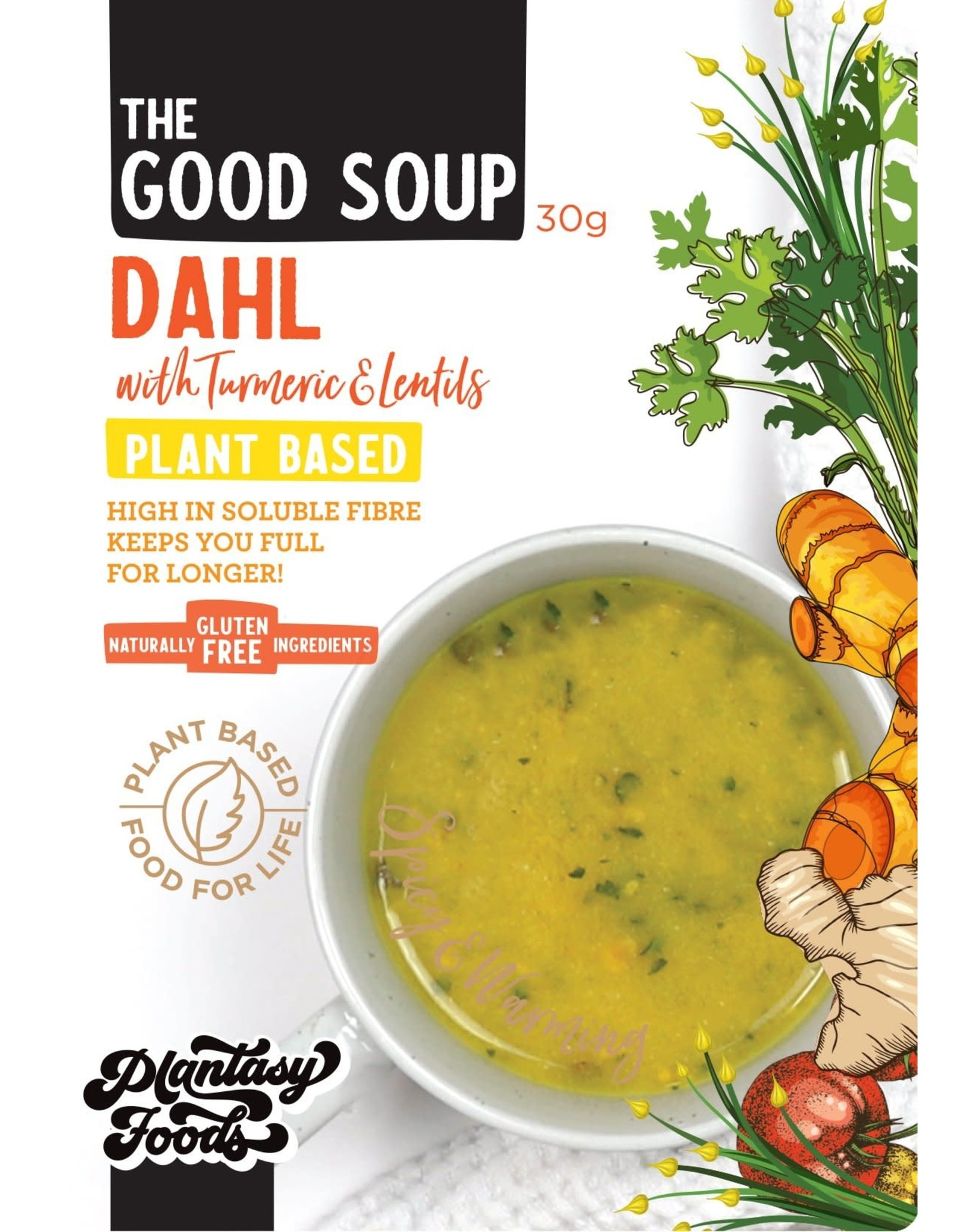 Plantasy Foods The Good Soup Dahl with Turmeric and Lentils 30g