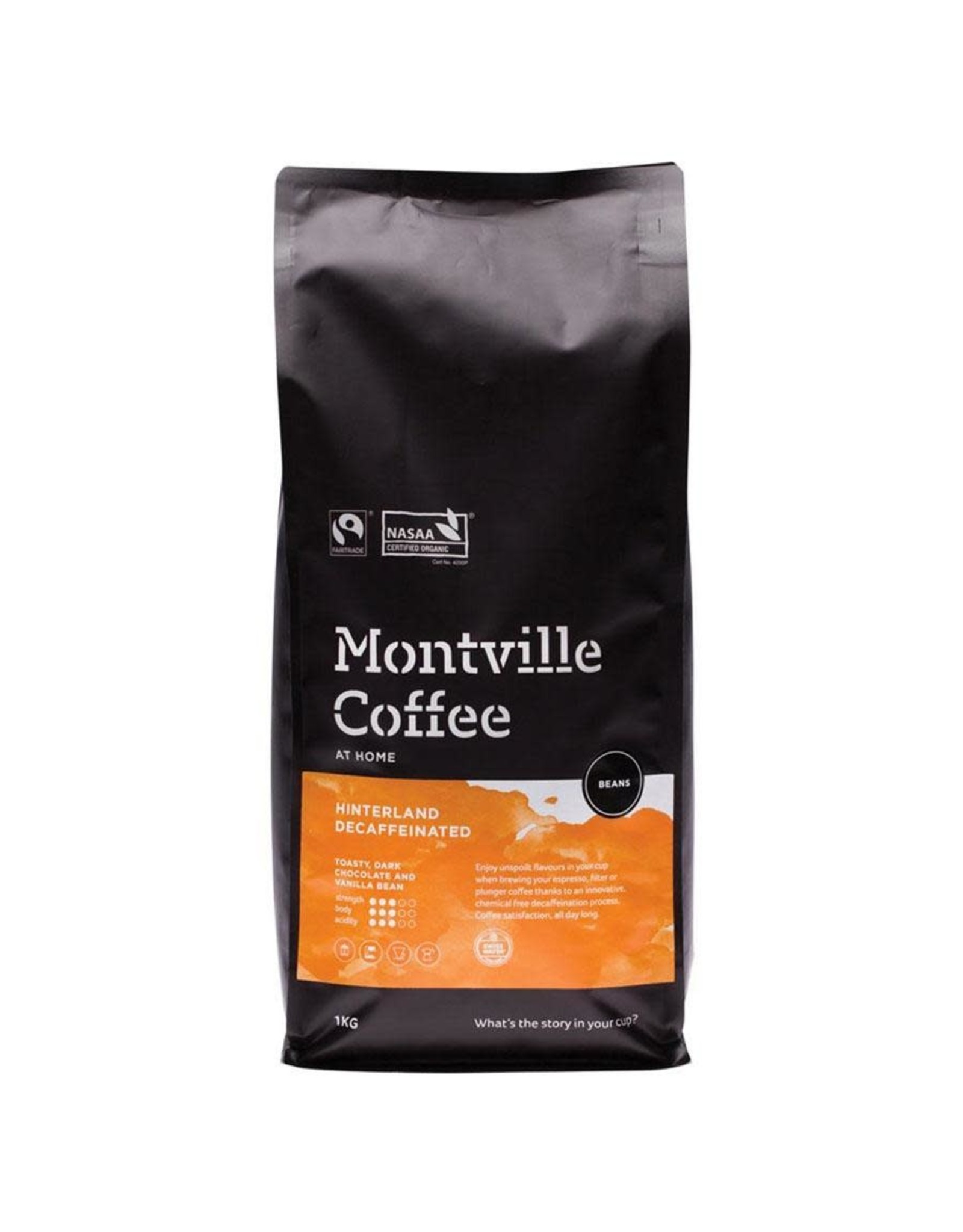 Montville Coffee Organic Decaf Coffee Beans - Hinterland Blend