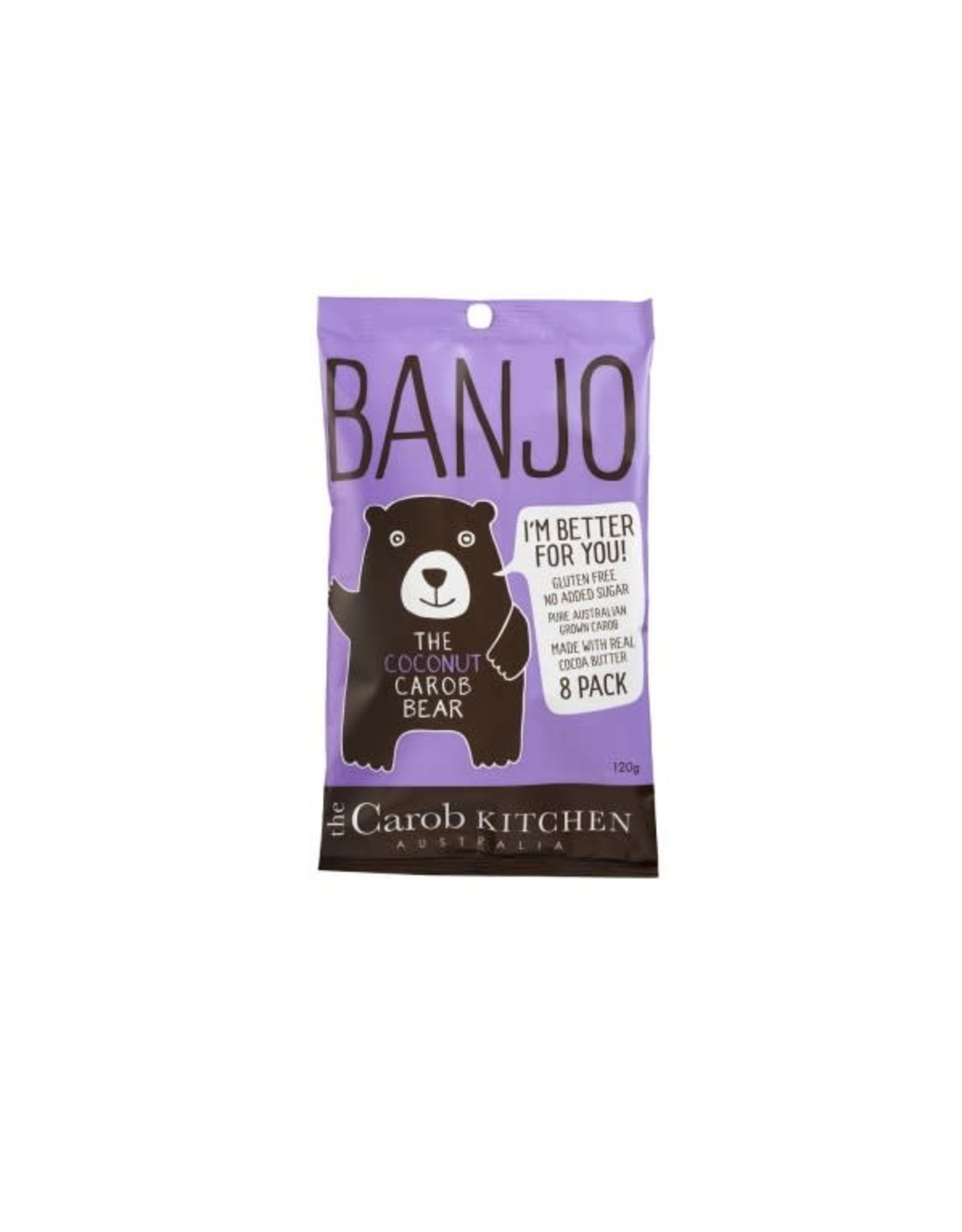 The Carob Kitchen Banjo Bear Coconut 8x 15g