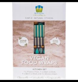 The Family Hub Organics Vegan Food Wraps - Starter Set