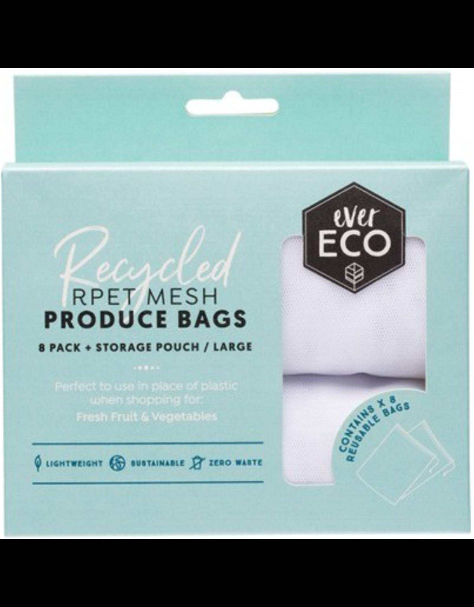 Ever Eco Reusable Produce Bags  8pk plus Storage Pouch