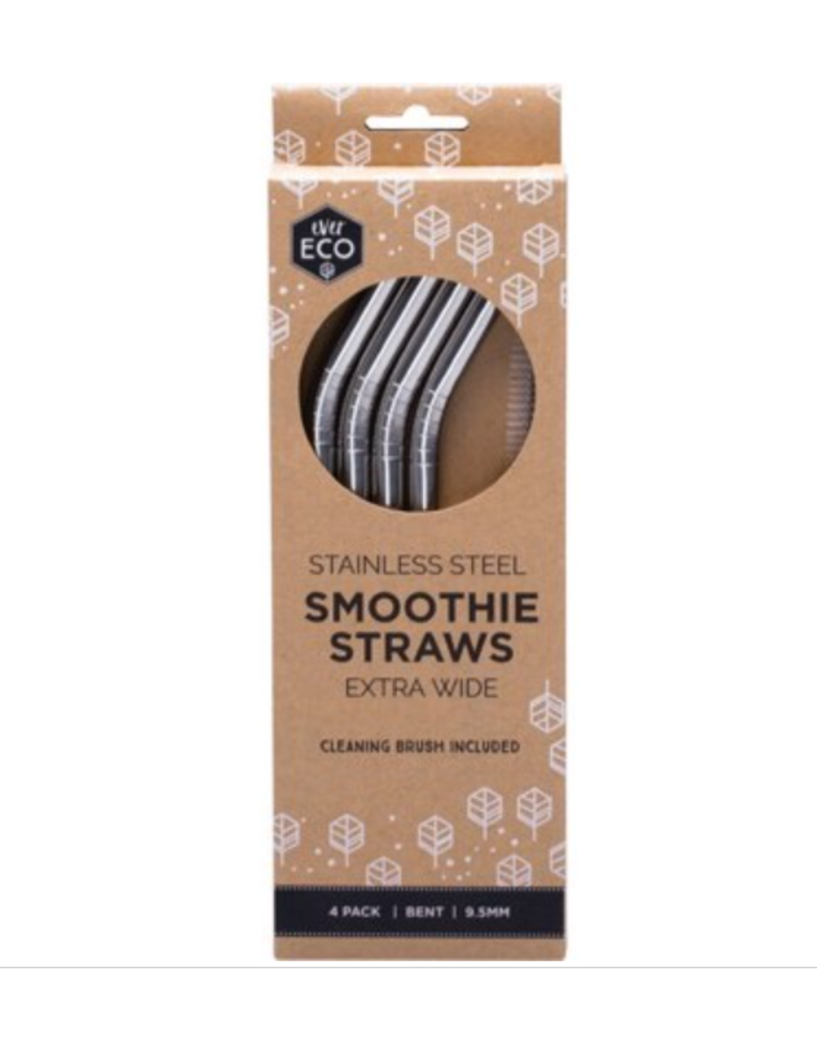 Ever Eco Stainless Steel Smoothie Straws 4 Pack