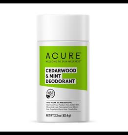 Acure Deodorant Stick  Cedarwood & Mint