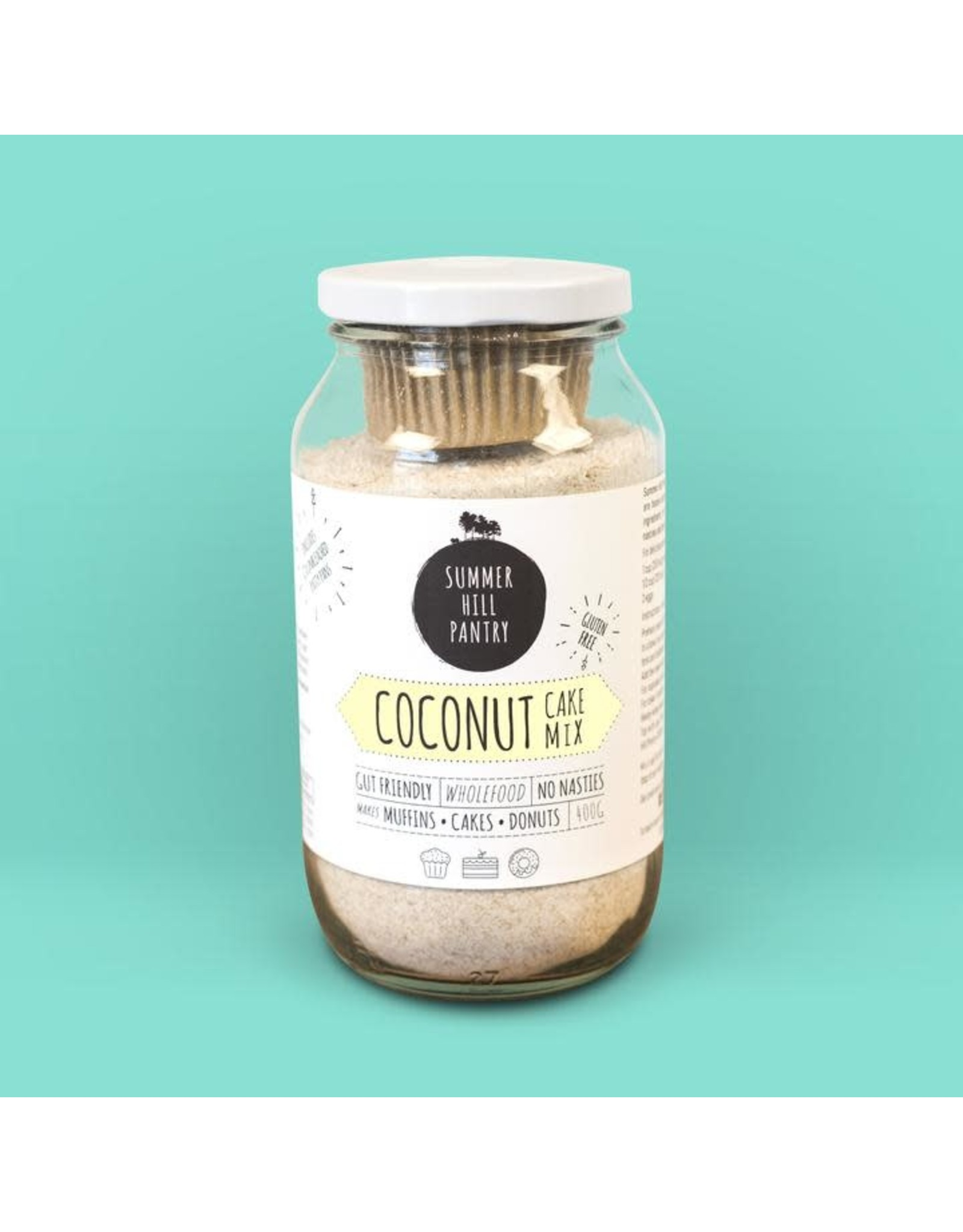 Summerhill Pantry Coconut Cake Mix 400g Jar