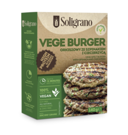 Soligrano Vege Spelt Burger with Spinach & Chickpeas 140g