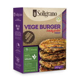 Soligrano Indian Vege Burger with Spelt, Amaranth & Red Lentils 140g