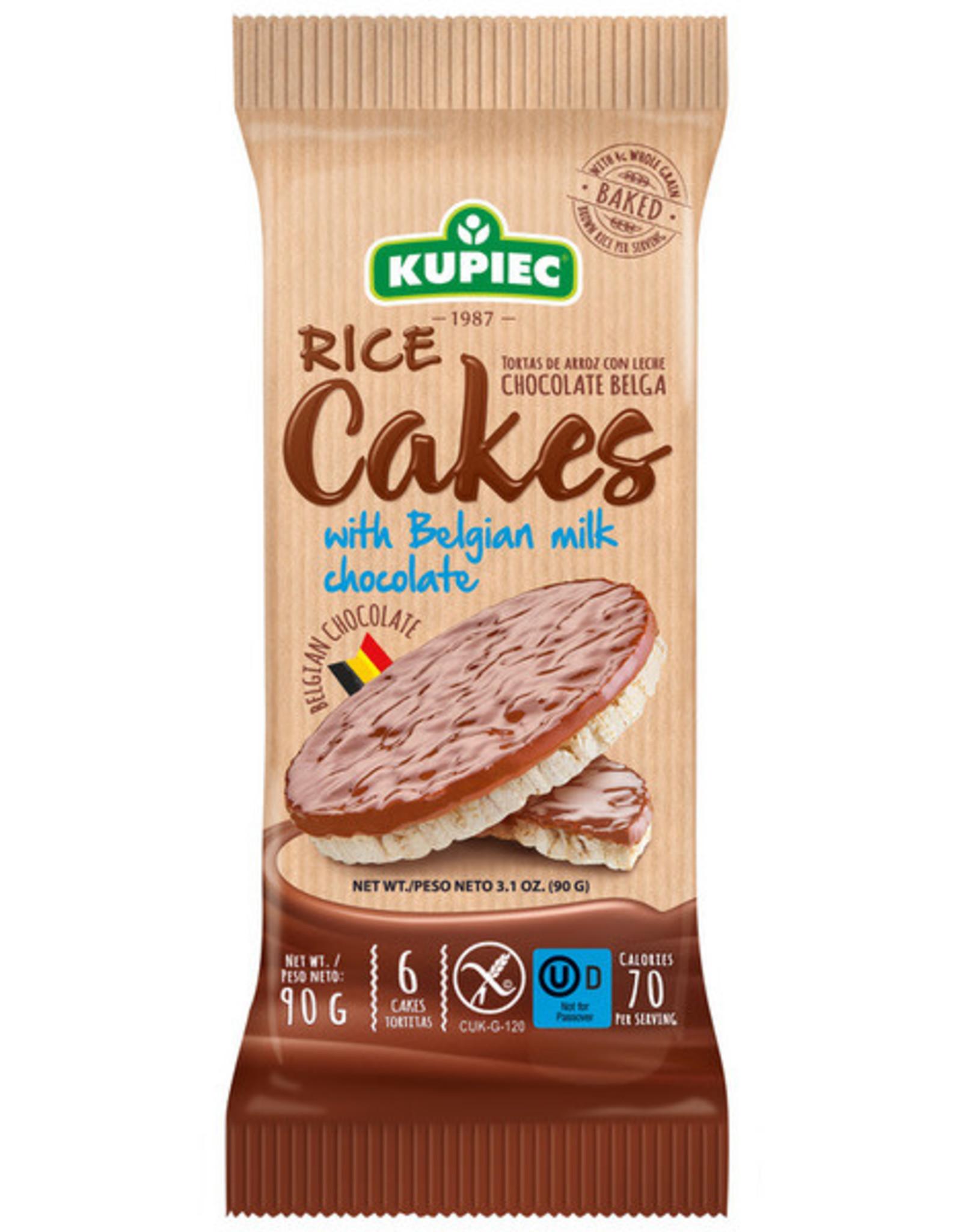 Kupiec Rice Cakes with Milk Chocolate - Gluten Free - 90g