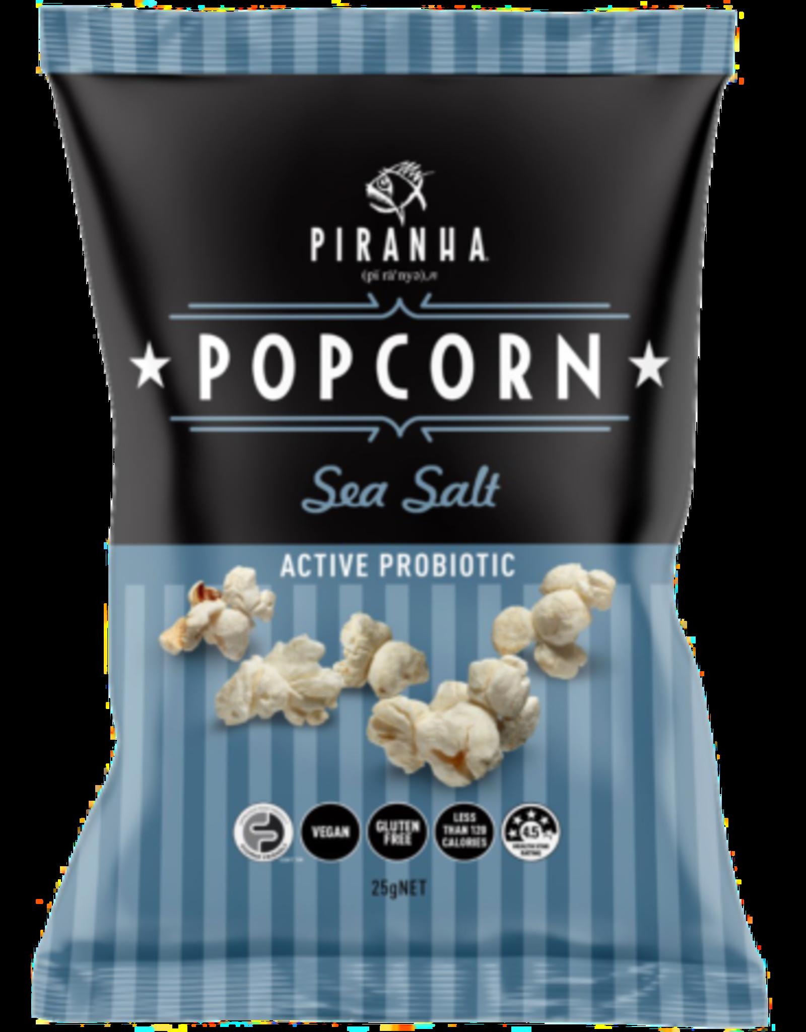 Piranha Sea Salt Popcorn with Probiotics - 25g