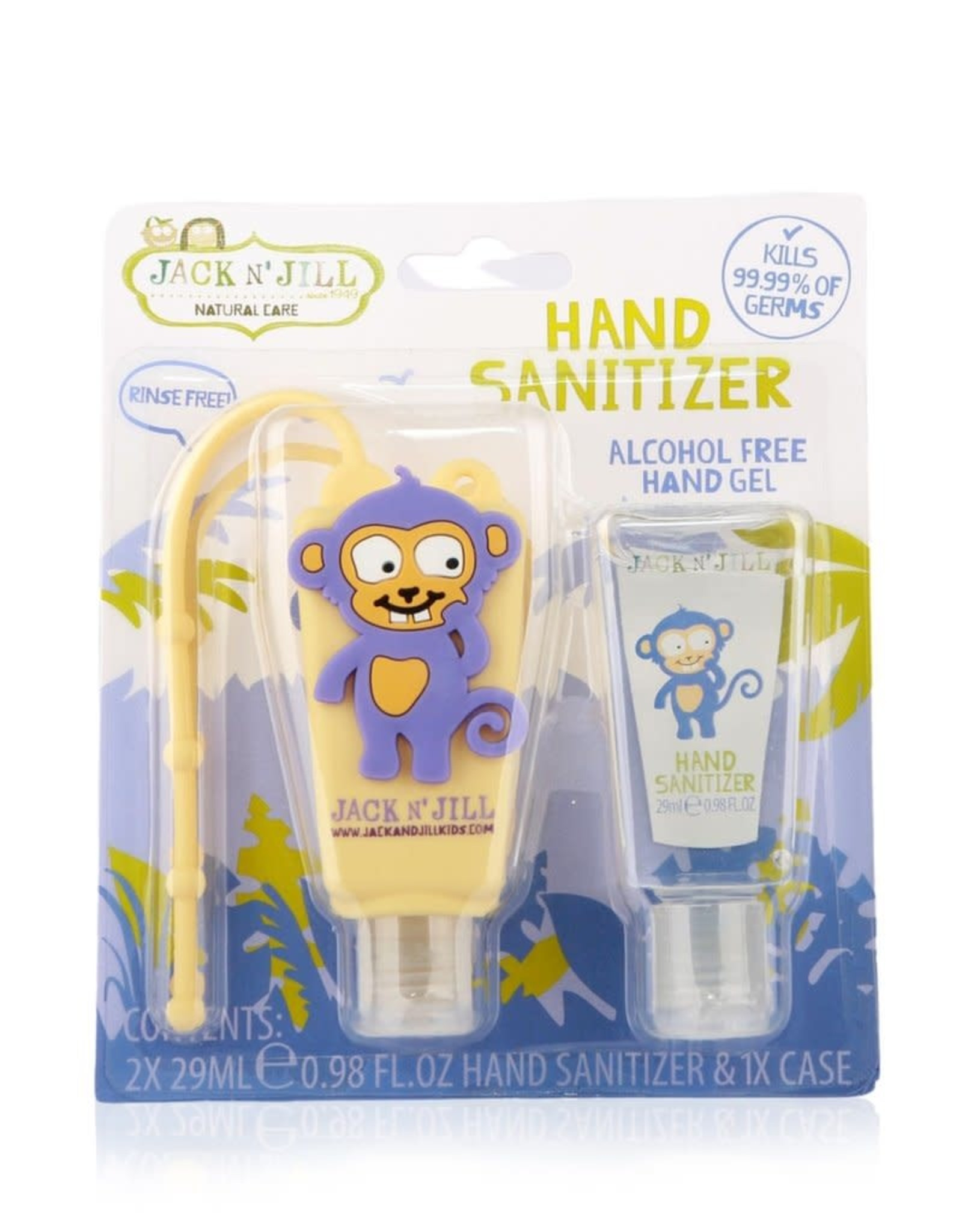 Jack N' Jill Hand Sanitizer Alcohol Free - Monkey 2x29ml