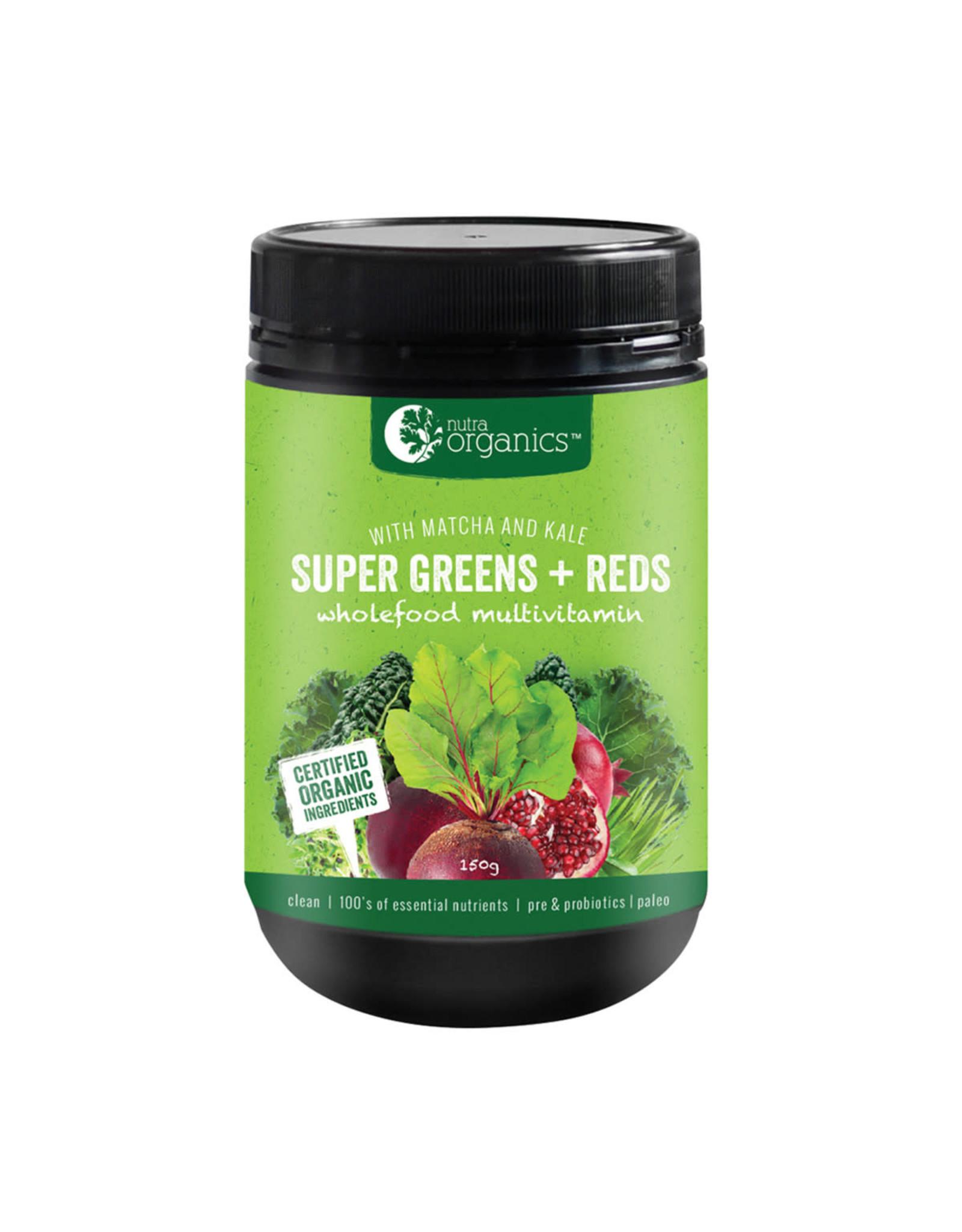 NutraOrganics Super Greens + Reds 150g