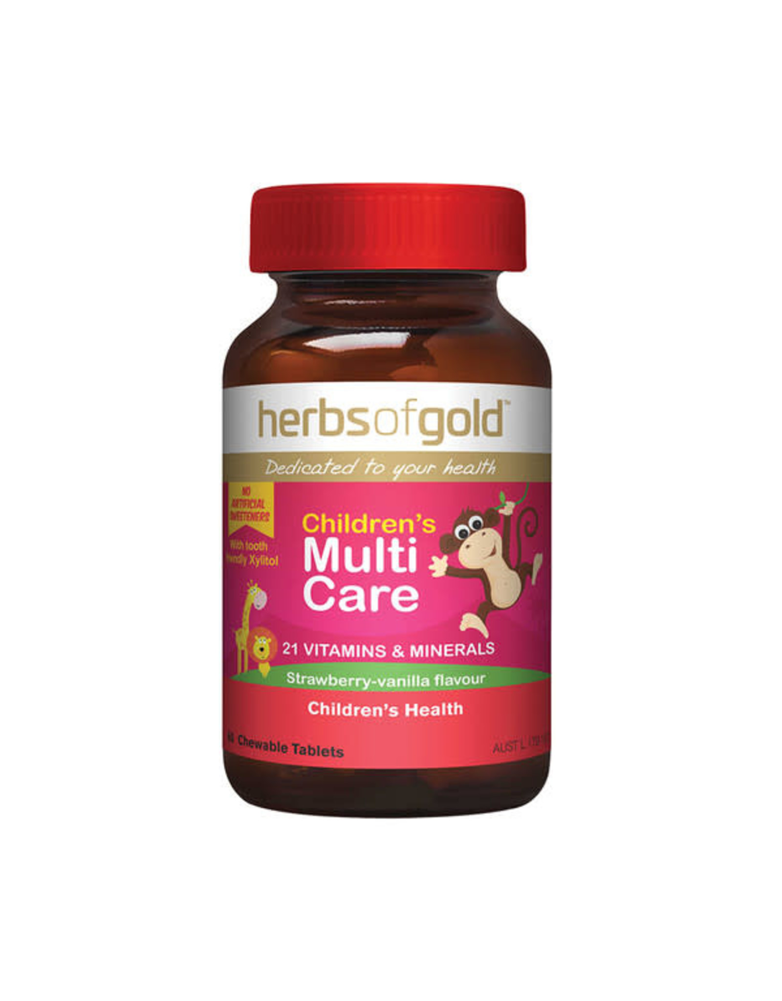 Herbs of Gold Children's Multi Care Chewable 60t