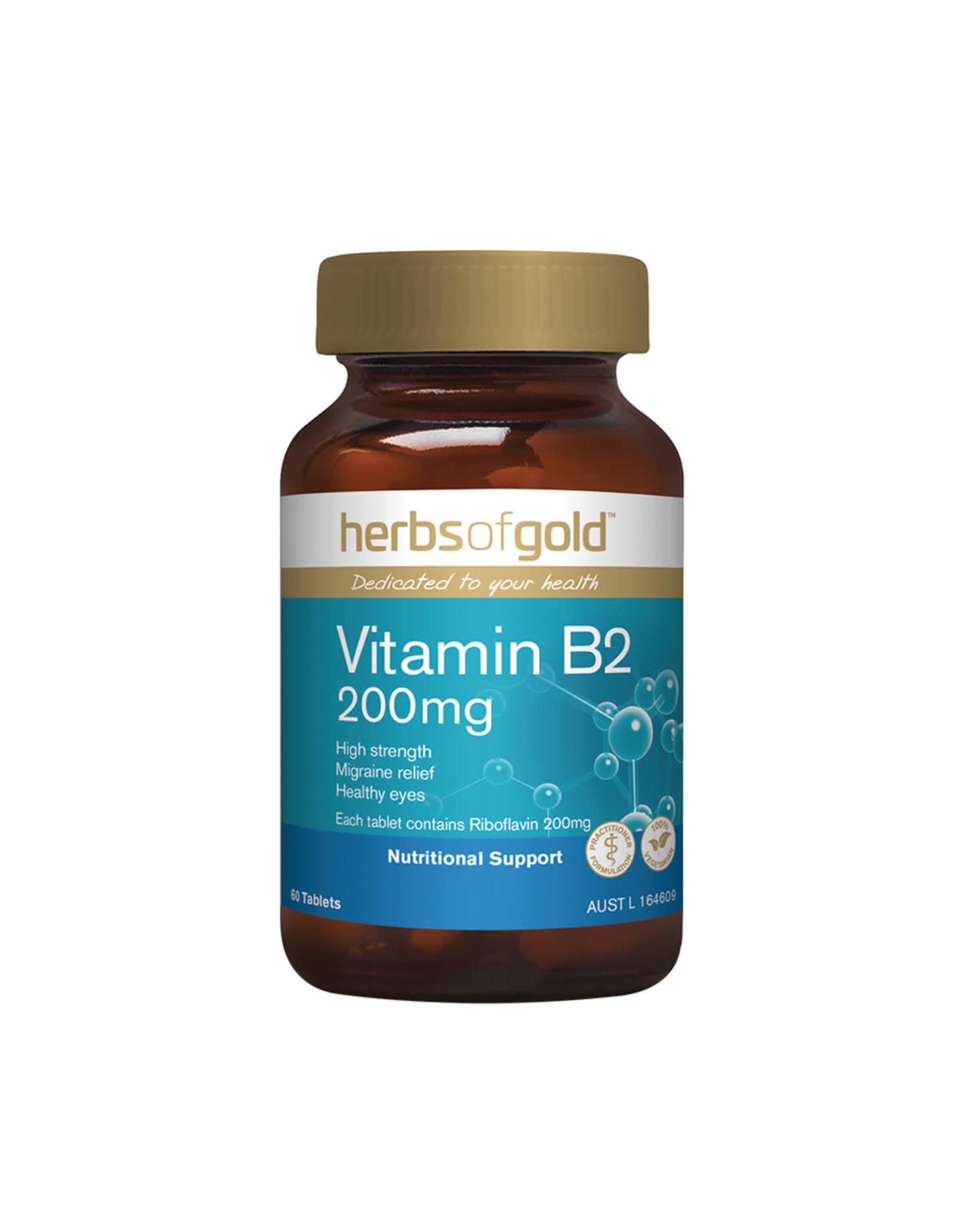 Herbs of Gold Vitamin B2 200mg 60t