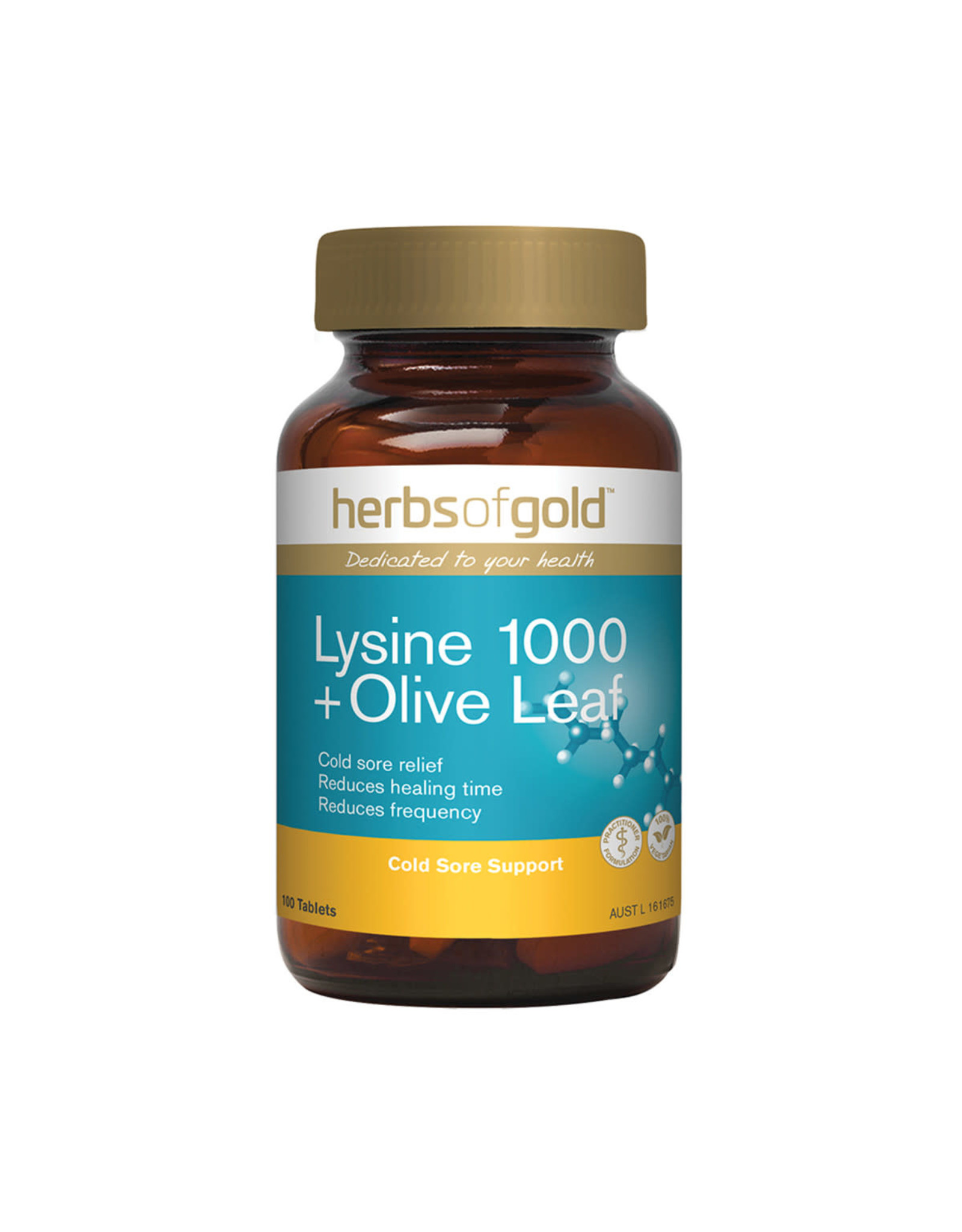 Herbs of Gold Lysine + Olive Leaf 100t