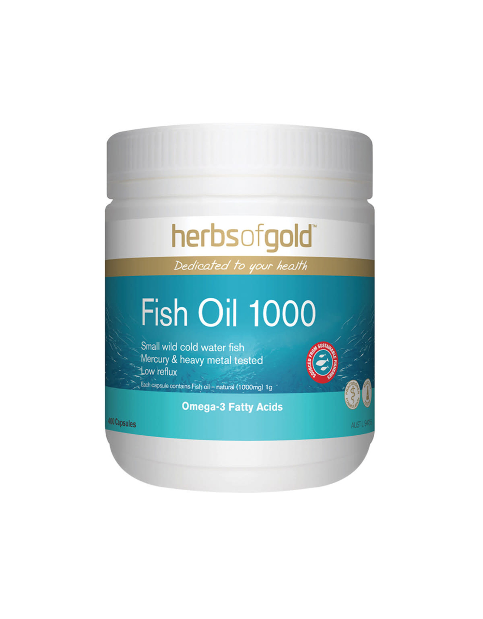 Herbs of Gold Fish Oil 1000 400c