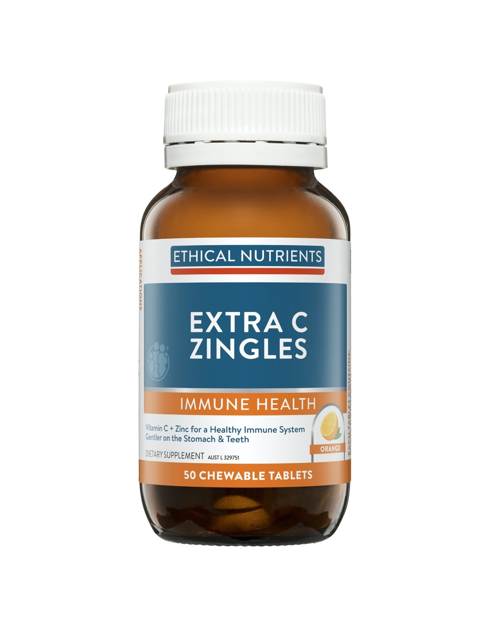 Ethical Nutrients Extra C Zingles 50 Chewable Tablets