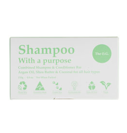 Shampoo with a Purpose Shampoo & Conditioner Bar - The O.G - For All Hair Types - 135g