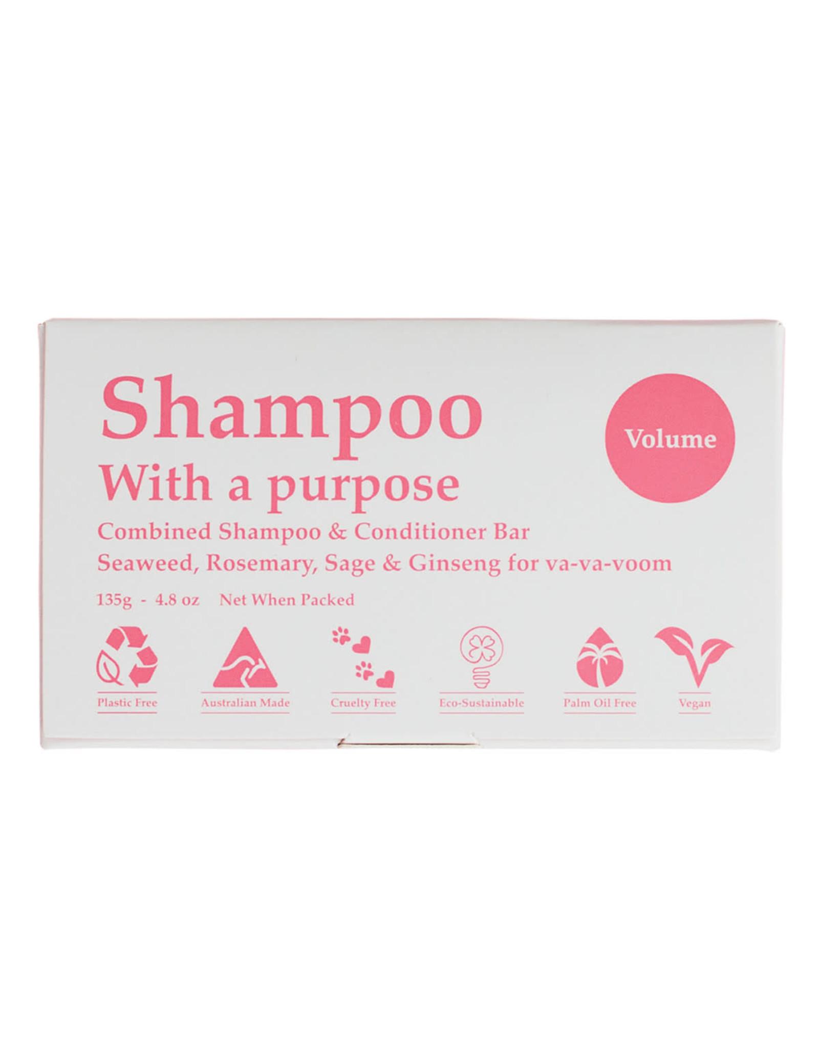 Shampoo with a Purpose Shampoo & Conditioner Bar - Volume - 135g