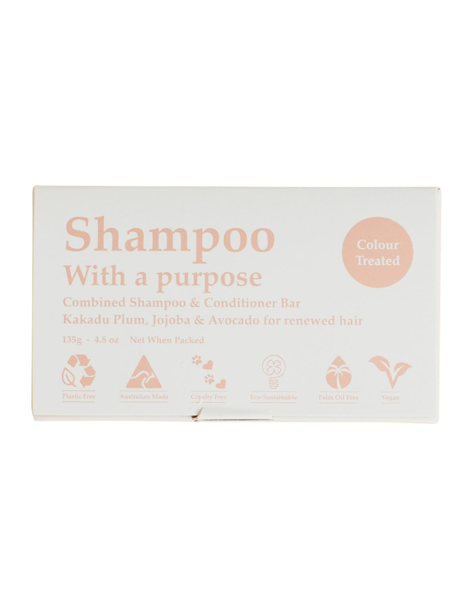 Shampoo with a Purpose Shampoo & Conditioner Bar - For Colour Treated Hair - 135g