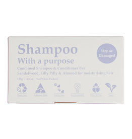 Shampoo with a Purpose Shampoo & Conditioner Bar - Dry or Damaged Hair - 135g