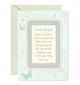 Intrinsic Healing Thoughts Greeting Card
