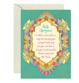 Intrinsic Hello Gorgeous Greeting Card