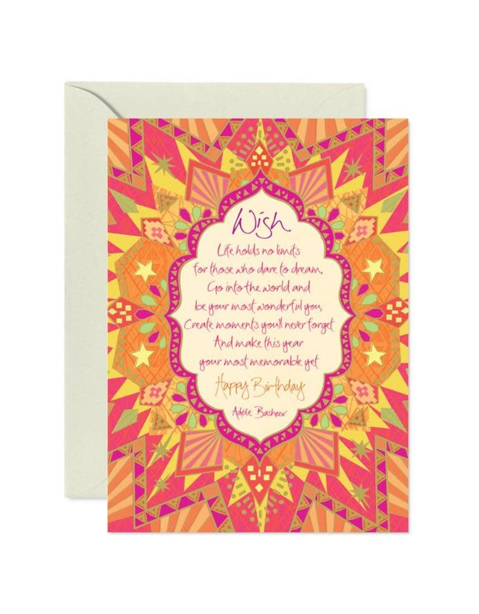 Intrinsic Birthday Wish Greeting Card